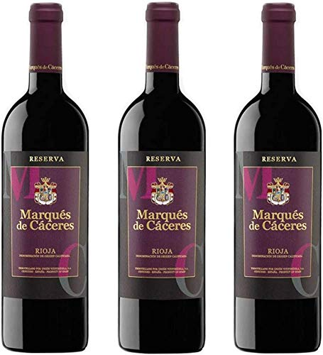Marques De Caceres - Vino Tinto Reserva Botella 75 cl - 3 botellas 2250ml