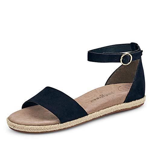 Paul Green 7363 056 Damen Sportive Sandale aus Veloursleder Lederausstattung, Groesse 36, blau