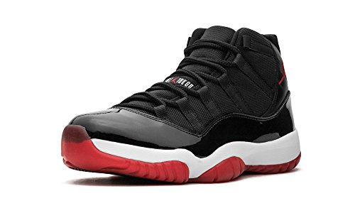 NikeAir Jordan 11Retro Herren-Sneaker in limitierter Edition, Farbe: legend blue, - Black, Varsity Red-white - Größe: 47 EU