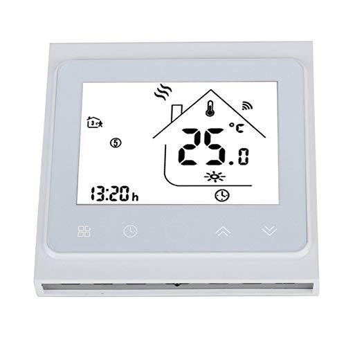 Liyoo Termostato Inteligente, termostato WiFi, Pantalla LCD Ahorra energía para el Control de calefacción de Suelo