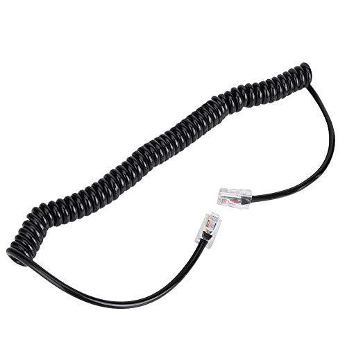 ASHATA-handmicrofoonkabel, hoogwaardige luidsprekermicrofoon Walkie Talkie-luidsprekerkabel, RJ45 8-pins microfoonkabelkern voor autoradio Luidsprekermicrofoon HM-98 HM-133