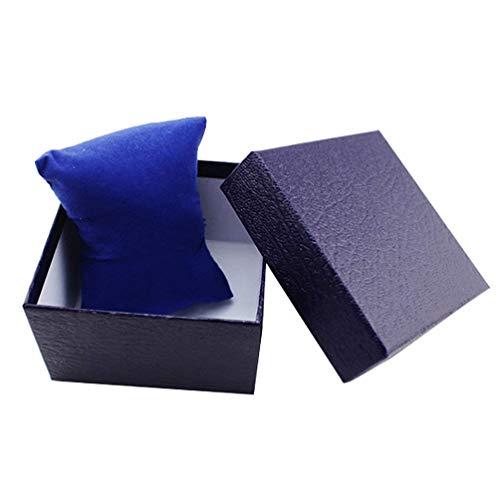 WSJTT Touillette Cafe Montre de Cas , Faux Cuir Bijoux Poignet Montres Titulaire boîte de Rangement d'affichage Organisateur Affaire Cadeau - Rouge (Color : Blue)