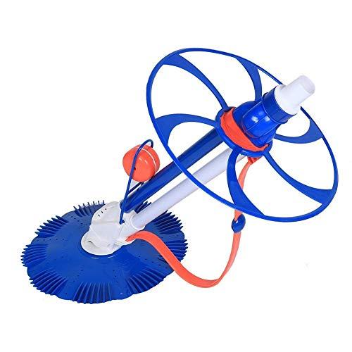 YBINGA Aspirador de piscina, aspiradora automática con cabezal de aspiración, equipo de limpieza de piscina, fácil instalación, conexión con el sistema de filtro de piscina para aspiradoras