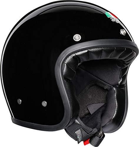AGV Unisex X70 Agv E2205 Solid - Motorrad Helm, Schwarz, M-L EU