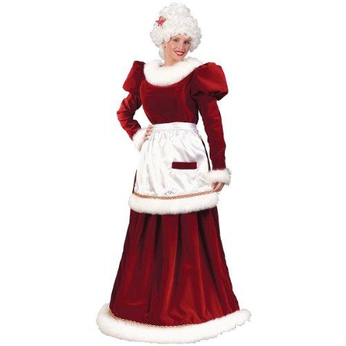Big Sale Ultra Velvet Mrs. Claus Christmas Costume - Adult Size Small/Medium (2-8)
