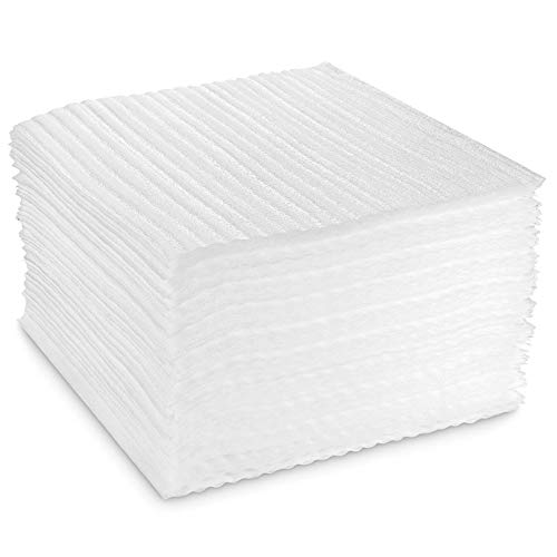 STARVAST 100-Count Packing Supplies Cushion Foam Sheets 12' x 12' Safely Wrap to Protect Dishes China Glasses Plates Fragile Items for Moving Boxes