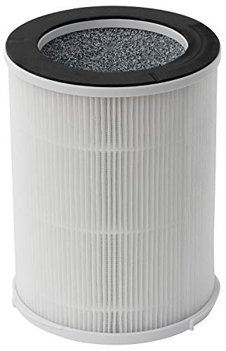 SilverOnyx True HEPA Portable Filter Replacement (3-Speed, Large Room) Air Purifier HEPA Replacement Filters - Best HEPA H13 Filter for Allergies, Pets, Smoke and Dust. for Large Room 500 sq f - White