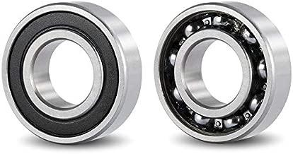 (Pack 2) DOJA Industrial | 2 Unidades de Rodamientos con Soporte 6302 2RS C3 Cojinete de Bolas para Eje de (15mm Cojinetes con Soportes para: fresadora, Impresora 3D, Bricolaje.