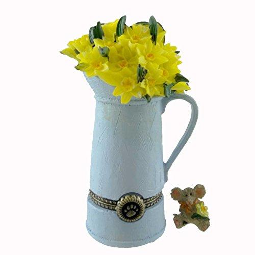Enesco Boyds Resin - Pitcher of Flowers Treasure Trinket Box