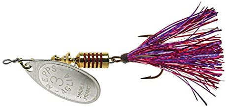 product image for Mepp's Aglia Flashabou Spinnerbait Silver (7/16 Oz)