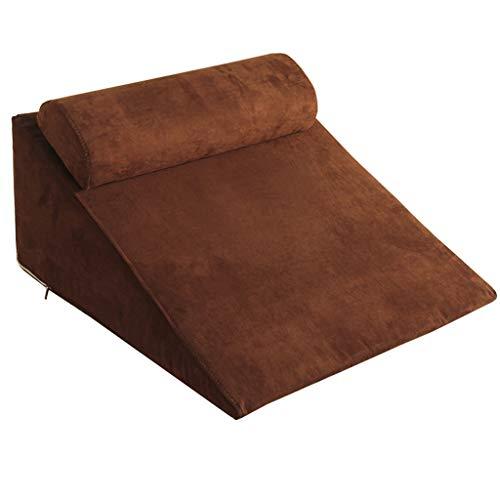 JKL Medizinische Pflege Dreieck Kissen, Wildleder Bett Kopfstütze Sofa Sitzen Taille Rückenlehne Abnehmbarer Waschbar Slope Pad (30 * 65 * 60 cm) (Farbe : B)