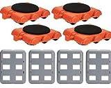 UPP Sistema di scorrimento per mobili, Gooloo, 8 pezzi Set aggiuntivo con trolley incluso Moquette antiscivolo sistema professionale per il trasporto sicuro di divano, armadio, lavatrice ecc.