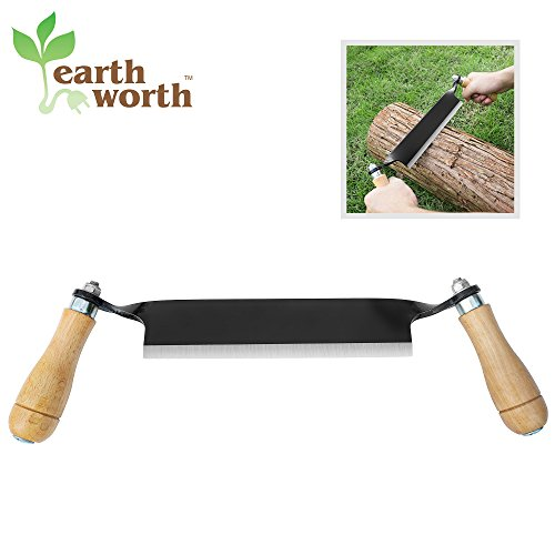 1946 Earth Worth | Straight Draw Shave Tool | 8 Inch | Black