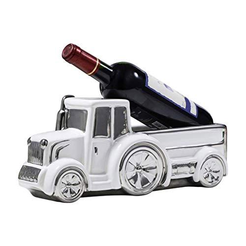 WYKDL Camión Estatua con soporte para botella de vino o estante para vino decorativo en apariencia antigua para esculturas antiguas de decoración de cocinas y granjas rurales y decoraciones de bar rús