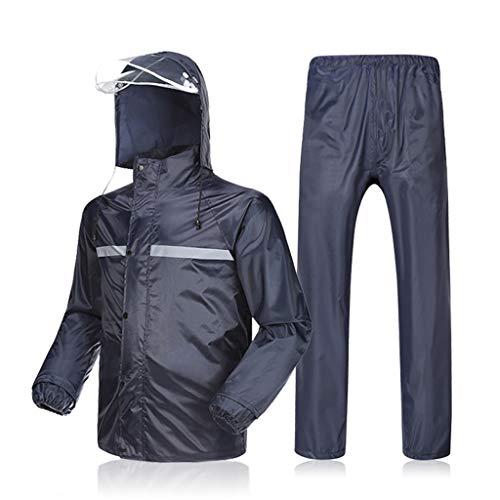 RYY Regenbekleidung Wasserdicht Winddicht Regenbekleidung und atmungsaktive Regenjacke & Hose mit Kapuze Regenanzug mit Kapuze for Fahrrad Motorrad Golf Outdoor Camping Travel (Color : B, Size : M)