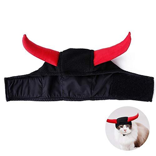 Foonee - Gorro de Vikingo para Mascotas, Sombrero de Caballos, Vestido para Halloween, Eventos navideños, Ropa para Mascotas, Perros pequeños, Gatos