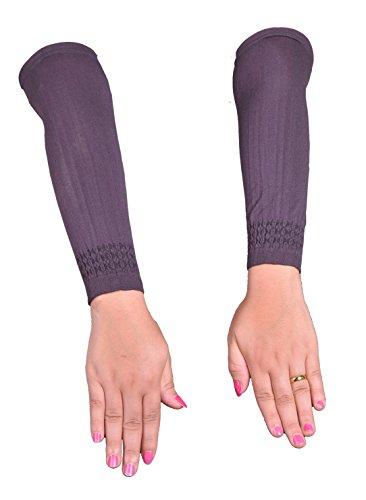 Egypt Bazar Elegante Armstulpen Hijab - Islamische Gebetskleidung (Dunkel-lila)