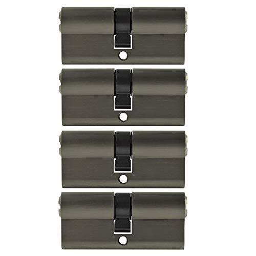 4x Zylinderschloss 70mm gleichschließend Zylinder inkl. 5 Wendeschlüssel pro Schloss