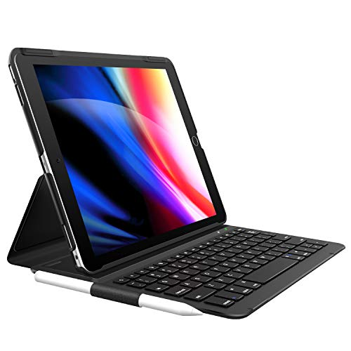 "iPad 8th Generation Case with Keyboard (2020 10.2 Inch), iPad 7th Gen/Air 3 Gen/Pro 10.5 Keyboard Case, Ultra-Slim with Pencil Holder - Folio Smart Apple Keyboard for iPad 10.2"" 8th/7th Gen 2020"