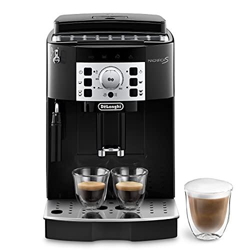 De\'Longhi Magnifica S ECAM 22.110.B, Kaffeevollautomat mit Milchaufschäumdüse, EXKLUSIV BEI AMAZON, Direktwahltasten für Espresso und Kaffee, 2-Tassen-Funktion, 1,8 Liter Wassertank, schwarz/silber