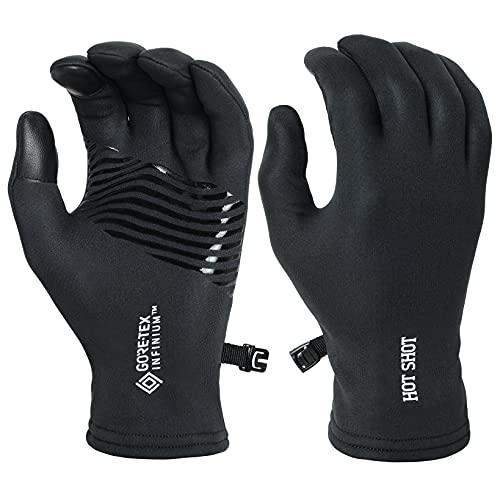 Hot Shot Men's GORE-TEX Infinium Gloves – Outdoor Fleece Gear - Black -...