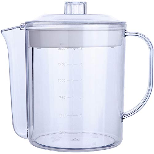 Lawei 51 oz 6 cup Fat Separator - Measuring Capacity Cup Gravy Separator with Strainer Filter for Healthier Gravy, Soup or Sauce Grease-Free