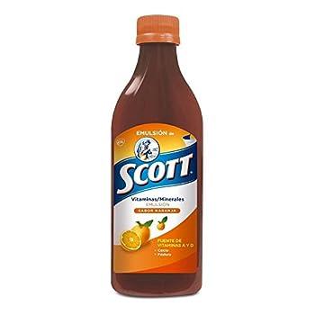 Scott Emulsion Orange Flavor - Family Size 400ml - Vitamin Supplement Rich in Cod Liver Oil Vitamins a and D Calcium and Phosphorus - Emulsion Scott Naranja