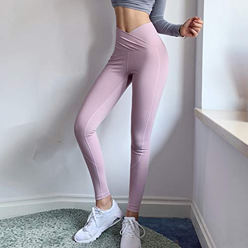 ZXXIS Dames Yoga broek Cross Waist Sneldrogend Ademend Workout Sport Leggings Fitness Skinny joggingbroek met hoge taille