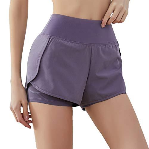 SKYSPER Pantalones Cortos Deportivos para Mujer Pantalón Corto Deportes Cintura Elástica Tran...