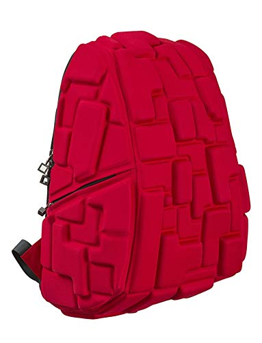 MadPax ' Blok Full ' Gli originale Zaino 3D (46x35x20cm), Rosso