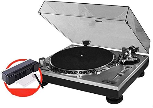 LBSX AT-LP120-1 USB Classic High Fidelity Vinyl Turntable Record Player with Audio Technica AT91 Cartridge, Drive, Built-in Preamp, Adjustable Counterweight, Solid Wood Plinth - Piano Black