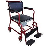 Mobiclinic, Ancla, Silla con WC con ruedas, silla de inodoro para minusválidos, discapacitados, ancianos, plegable,...