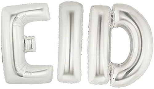 minorista de fitness IdealWigsNet Globo de lámina de plata 'Eid' - - - Paquete de 3 - 86.4 cm  Envío y cambio gratis.