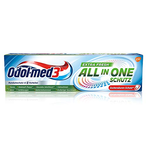 Odol-med3 All in One Schutz Extra Fresh Zahnpasta, 75 ml.