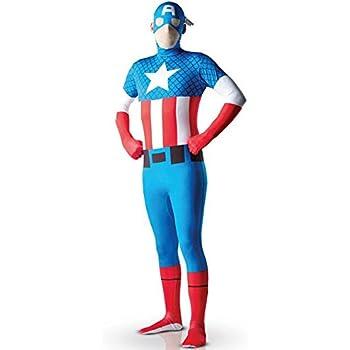 EyeCandy UK Capitán América SuperSkin Traje – Adulto Unisex ...
