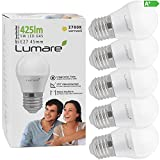 Lumare E27 LED Lampe 5W ersetzt 40 Watt warmweiß 5er-Pack G45 Glühbirne 425 Lumen Energiesparlampe...