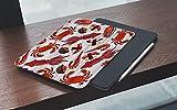 MEMETARO Custodia per iPad 9.7 2018 6a Generazione/2017 iPad 5a GenerazioneSalmon Steaks Shrimps Crabs Squid Sushi Giapponese Nigiri con vongole e tonno– Smart Cover Stand Ultral Leggero Slim