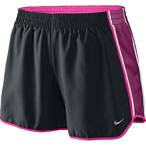 Nike para Mujer DRI-FIT Contrast Trim Pantalones Cortos - 339866-047, Black/Raspberry Red