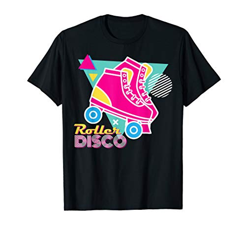 70er 80er Roller Disco Shirt Kostüm Outfit Party Herren Frauen