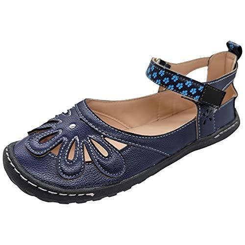 Sandalias para Mujer de Malla Velcro Deportivo de Calzado Casual Ligero Respirado Ligero Running Zapatillas Sacudir Zapatos de Mocasines Verano sandalias dedo mujer verano 2021