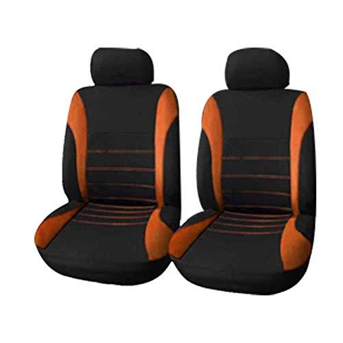 GQCZD-11 Autositzbezug,Sitzbezügeset,Sitzauflage,Autositz, 4-Stück Autositzbezüge, Auto Vorder- und Rücksitz-Auto-Sitzkissen Protektoren, geeignet for die meisten Auto-LKW Van SUV (Color : Orange)