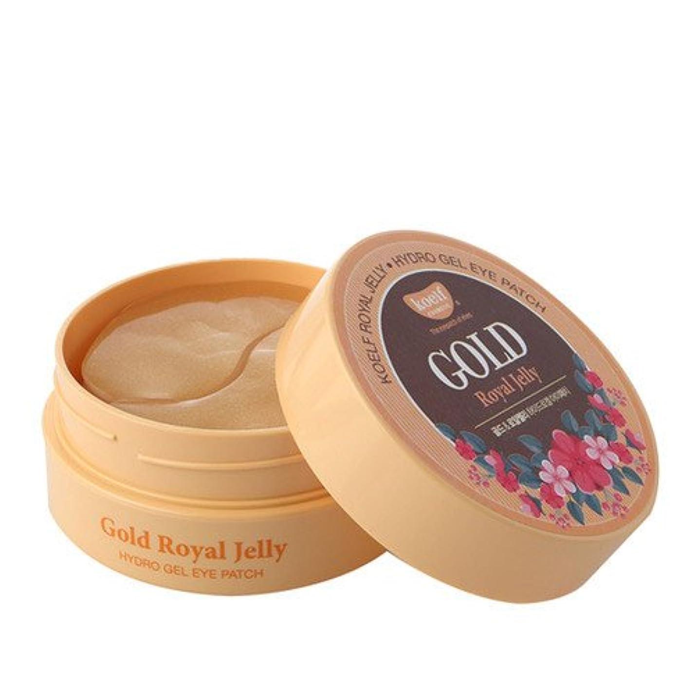 透明に行進病者PETITFEE Koelf Hydro Gel Eye Patch 1.4g×60EA/プチフェ コエルフ ハイドロゲル アイパッチ 1.4g×60枚入り (#Gold & Royal Jelly) [並行輸入品]