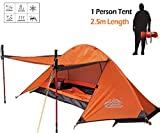 camppal 1 Person Tent Backpacking Camping Hiking Mountain Hunting Tent Lightweight and Waterproof