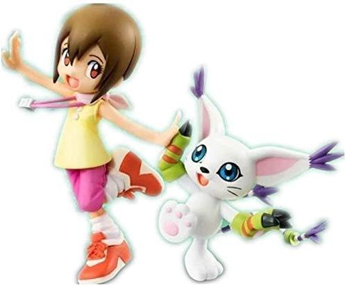 ZPTECH Exquisitas figuras de acción Digimon Figura de Yagami Hikari y Tailmon Figura de anime Figura de acción Feng (color: por defecto)