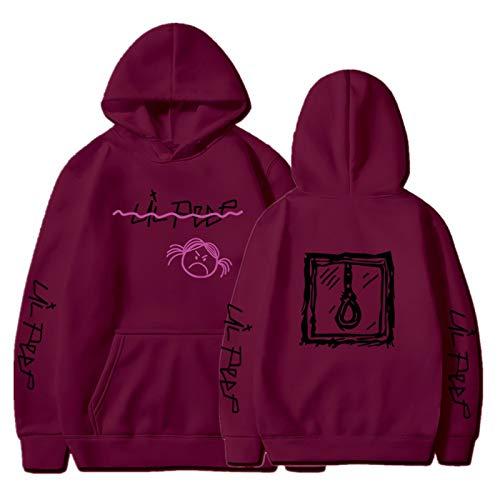 EMPERSTAR Lil + Peep + Chaqueta con Capucha Suelta Ocio cómoda Unisex Lil Peep Camiseta Herren Camo Sudadera Mujer XXL