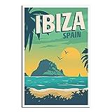Ibiza Poster, Retro Vintage Reise Poster Spanien Vintage