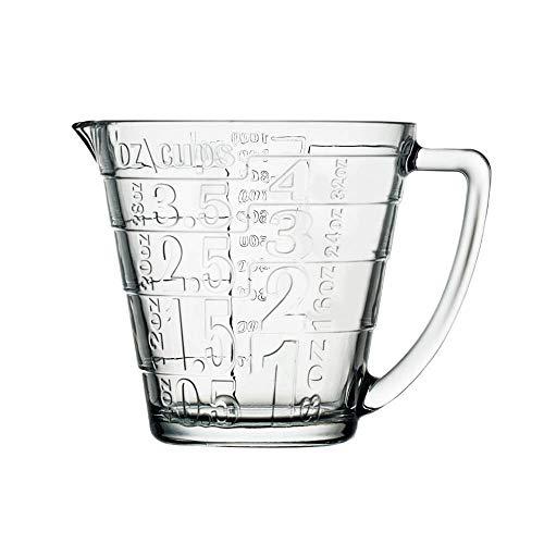 1L Glass maatbekers Kitchen Baking Cups Meten Cups Grote Meten Keukenwerktuig,Clear