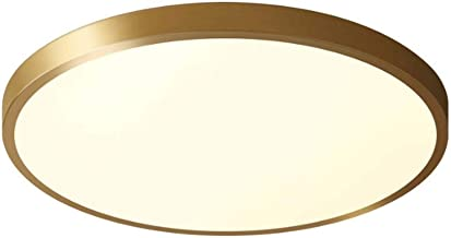 KCLQTK Ultra-thin 4CM 12W LED ceiling lamp copper embedded mounting lighting fixtures Energy saving creative round lampsha...