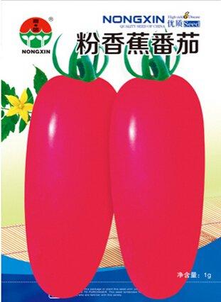 Graines de tomate 'Banane' Amérique F1 Rose Long, 1 Original Pack, Environ 150 graines / Pack, rares légumes tomate # NX036