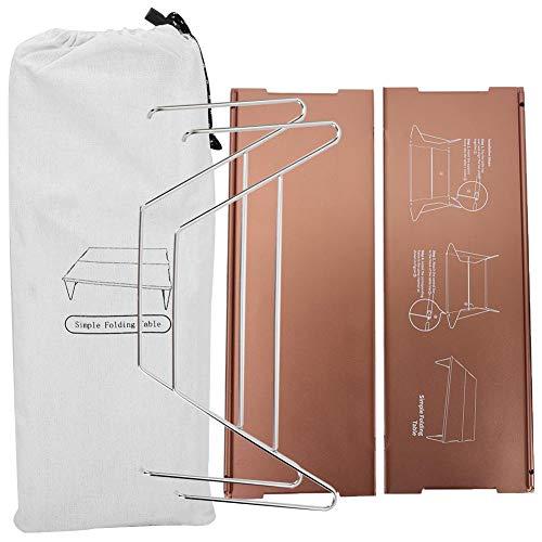OKBY Klapptisch - Ultraleichter tragbarer Klapptisch aus Aluminiumlegierung für den Außenbereich